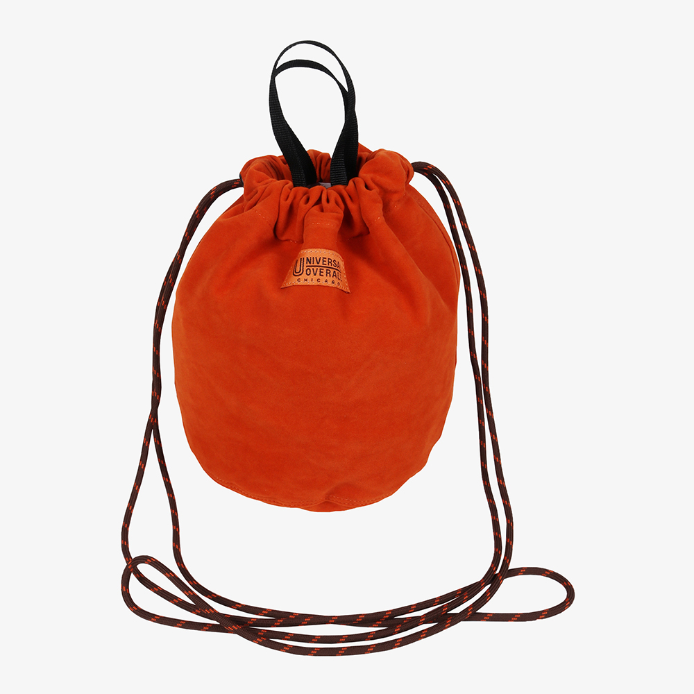 FAUX SUEDE BUCKET BAG ORANGE