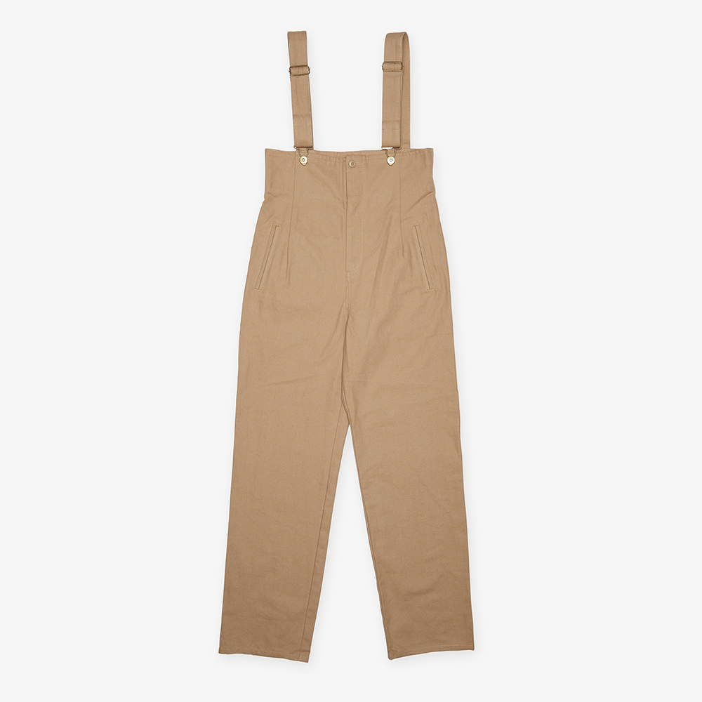 HIGH WAISTED OVERALL BEIGE