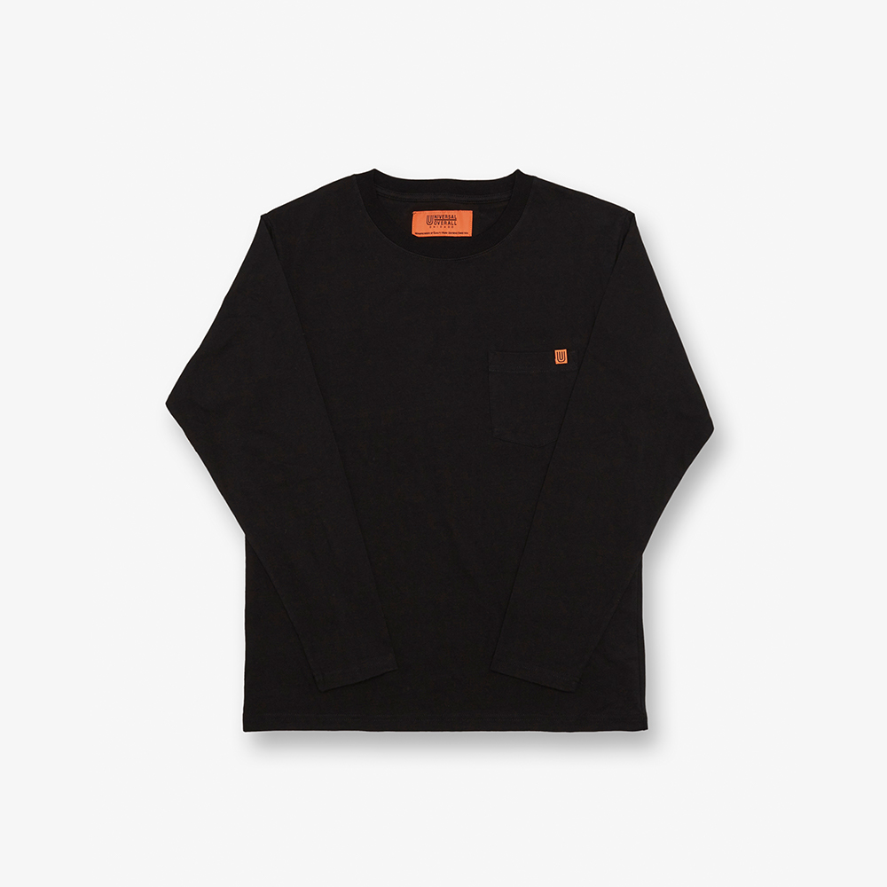 LONG SLEEVE POCKET TEE BLACK