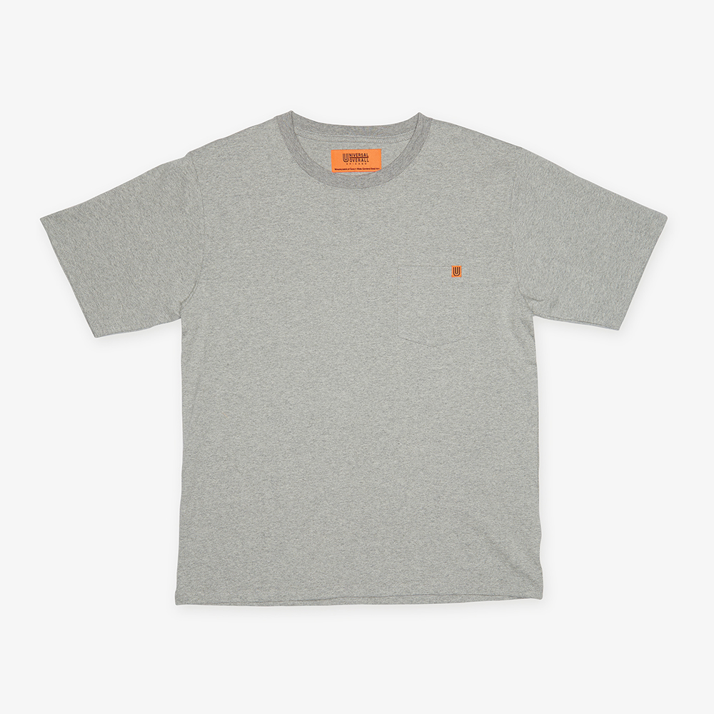 POCKET T-SHIRTS HEATHER GREY