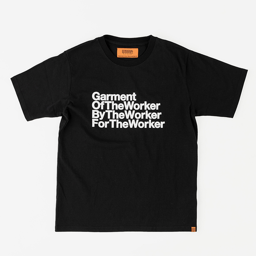 THE WORKER GRAPHIC T-SHIRTS BLACK