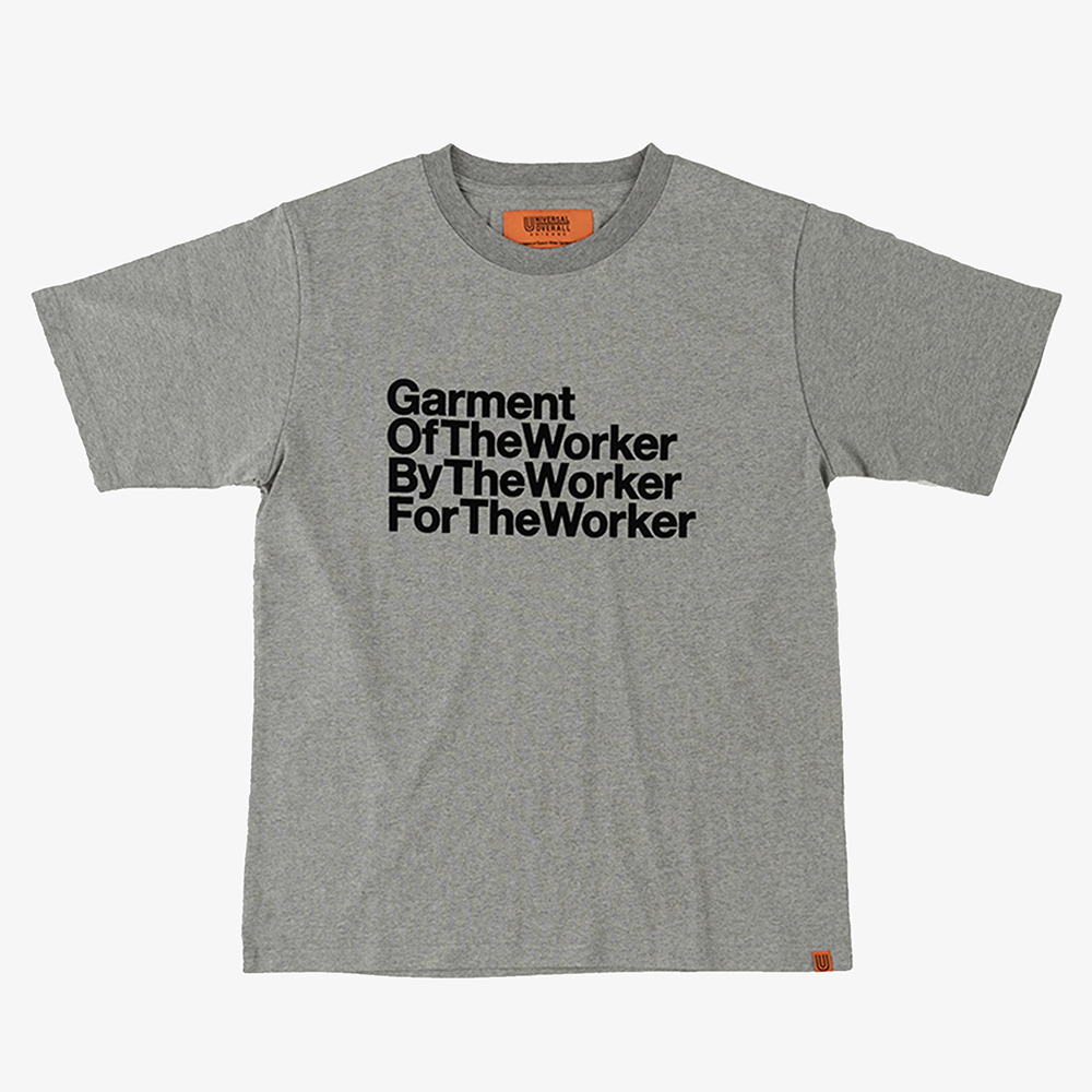 THE WORKER GRAPHIC T-SHIRTS HEATHER GREY