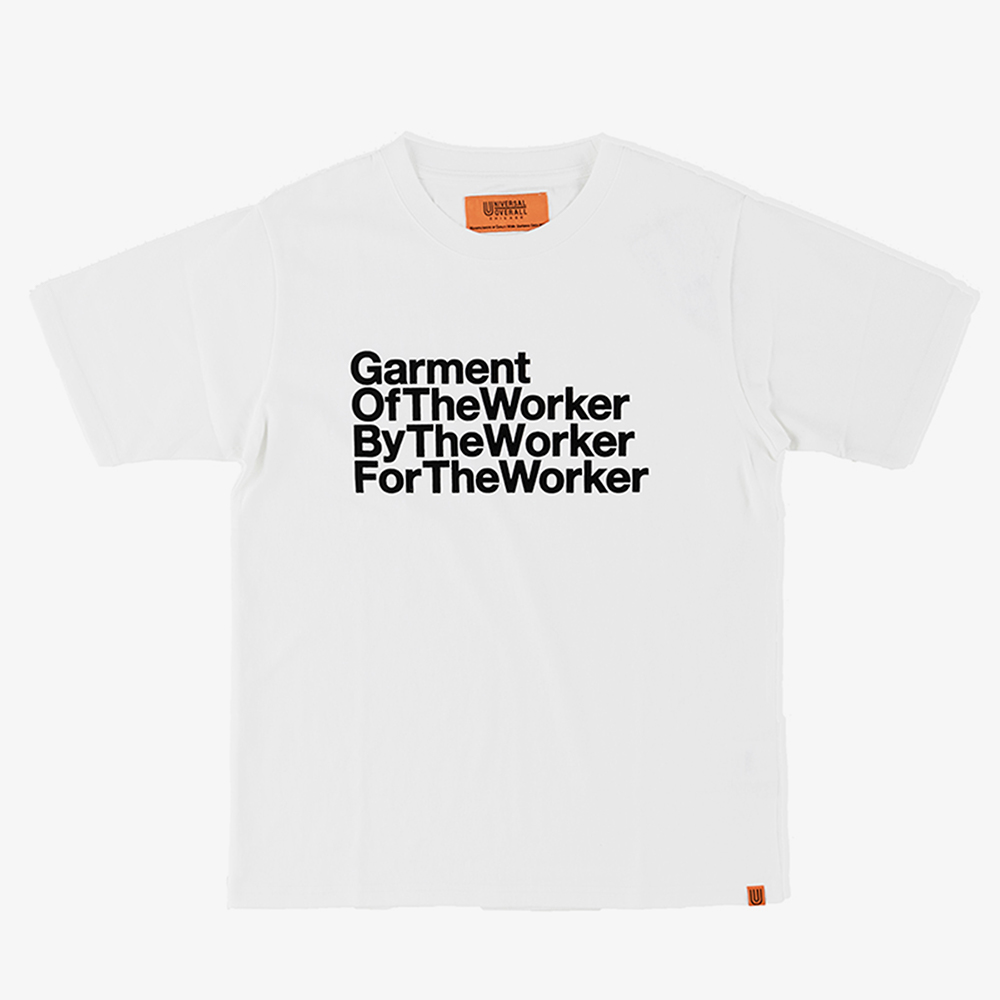 THE WORKER GRAPHIC T-SHIRTS WHITE