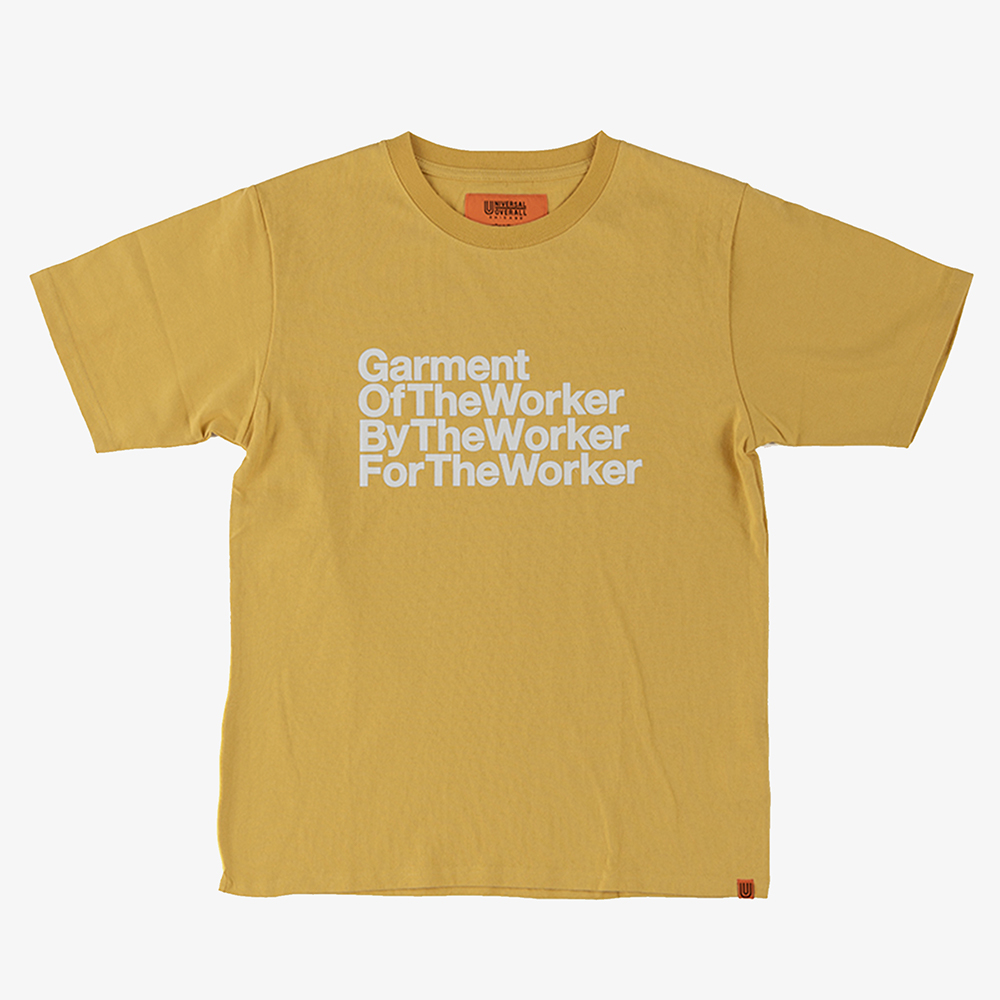 THE WORKER GRAPHIC T-SHIRTS YELLOW