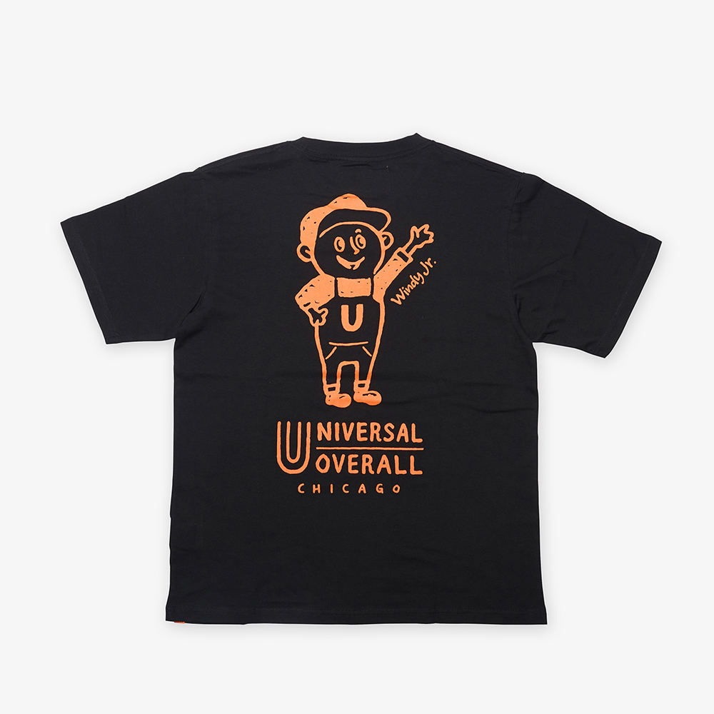 UNIVERSAL Jr.WINDY T-SHIRT BLACK