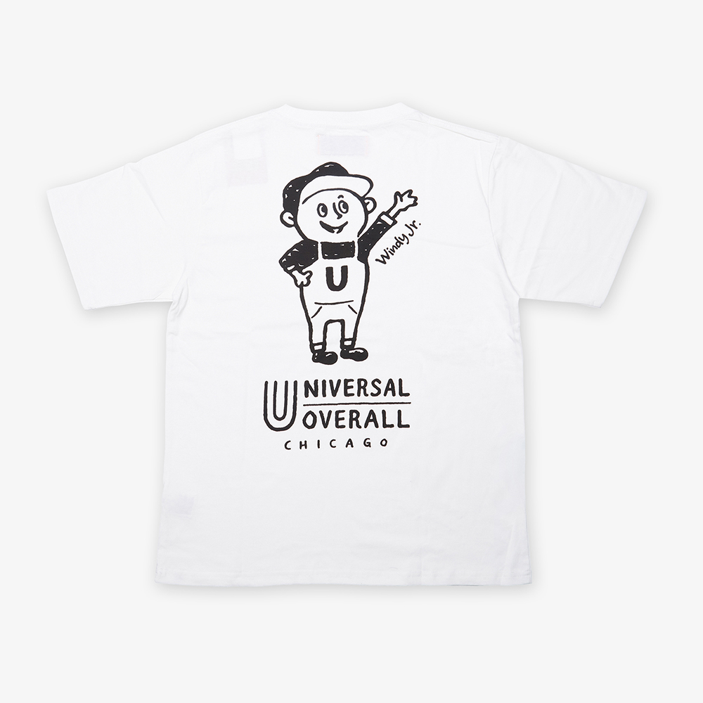 UNIVERSAL Jr.WINDY T-SHIRT WHITE