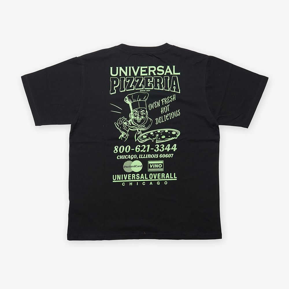 UNIVERSAL PIZZERIA T-SHIRT BLACK