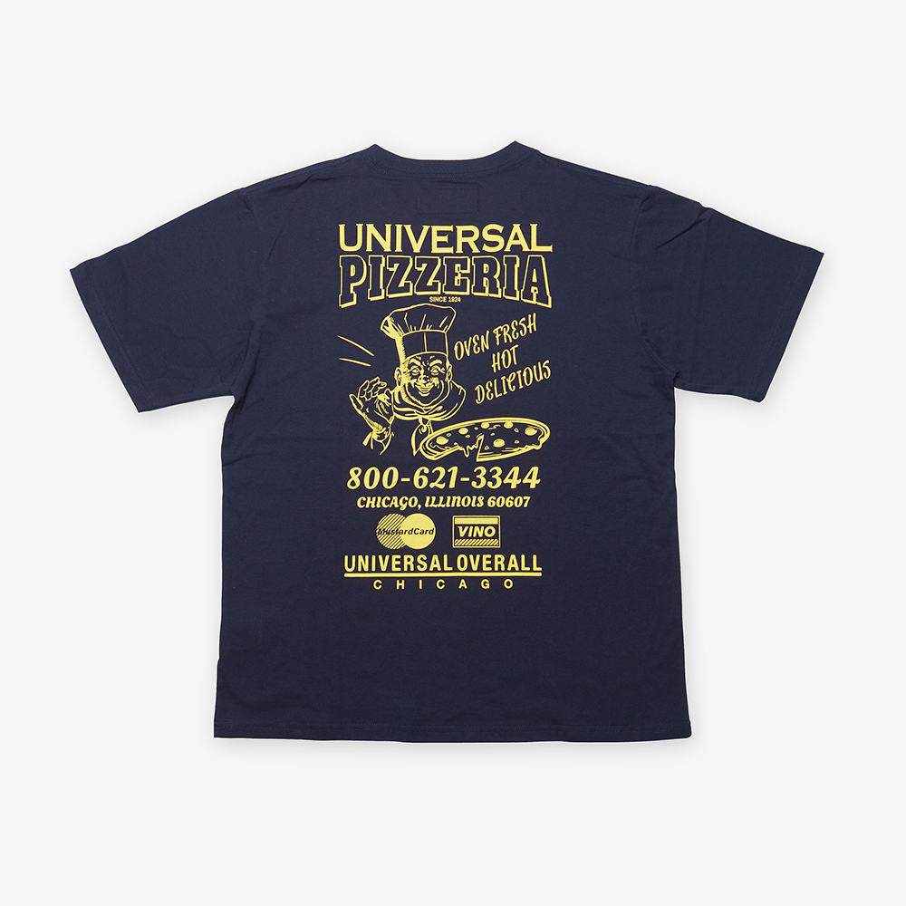 UNIVERSAL PIZZERIA T-SHIRT YELLOW