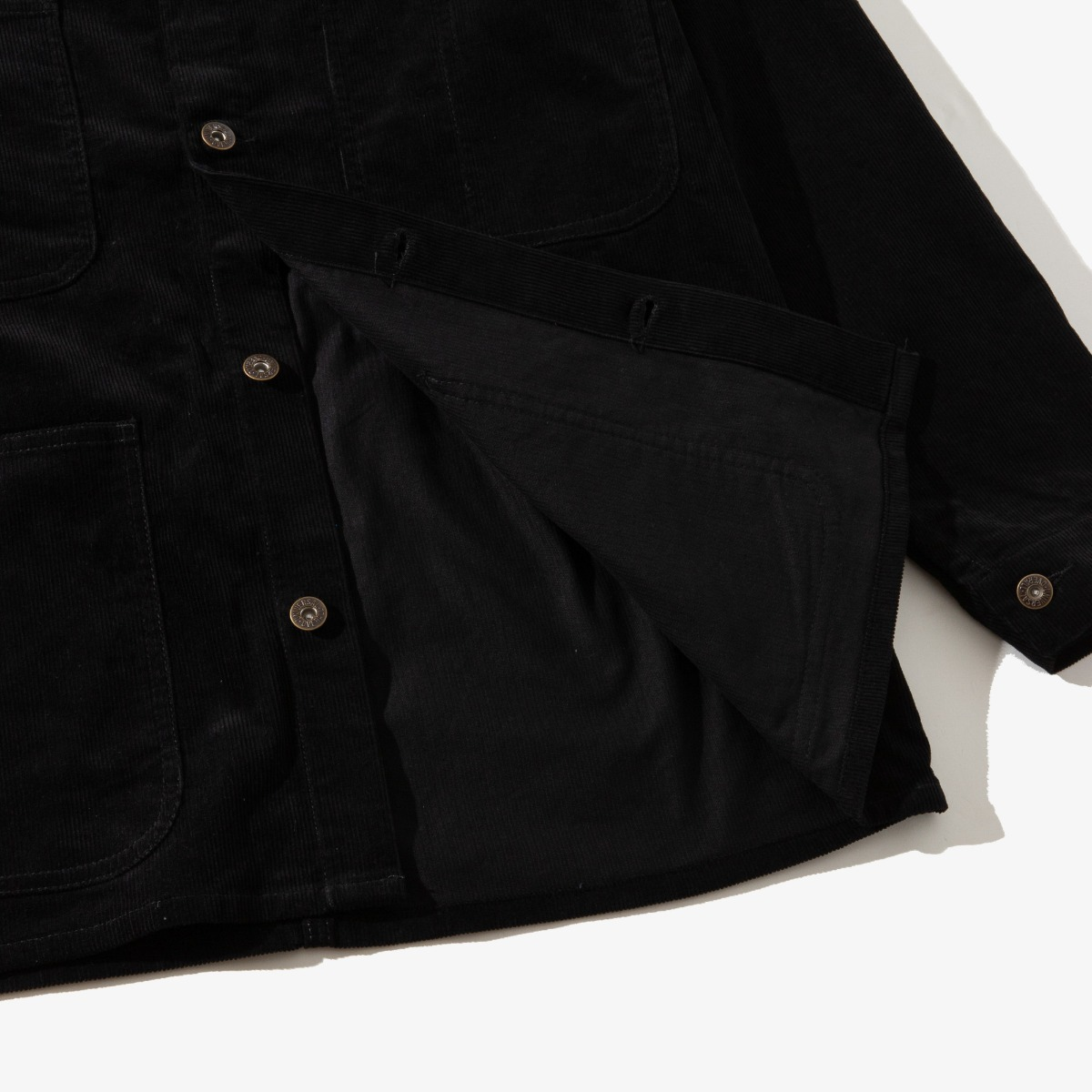 CORDUROY COVERALL BLACK