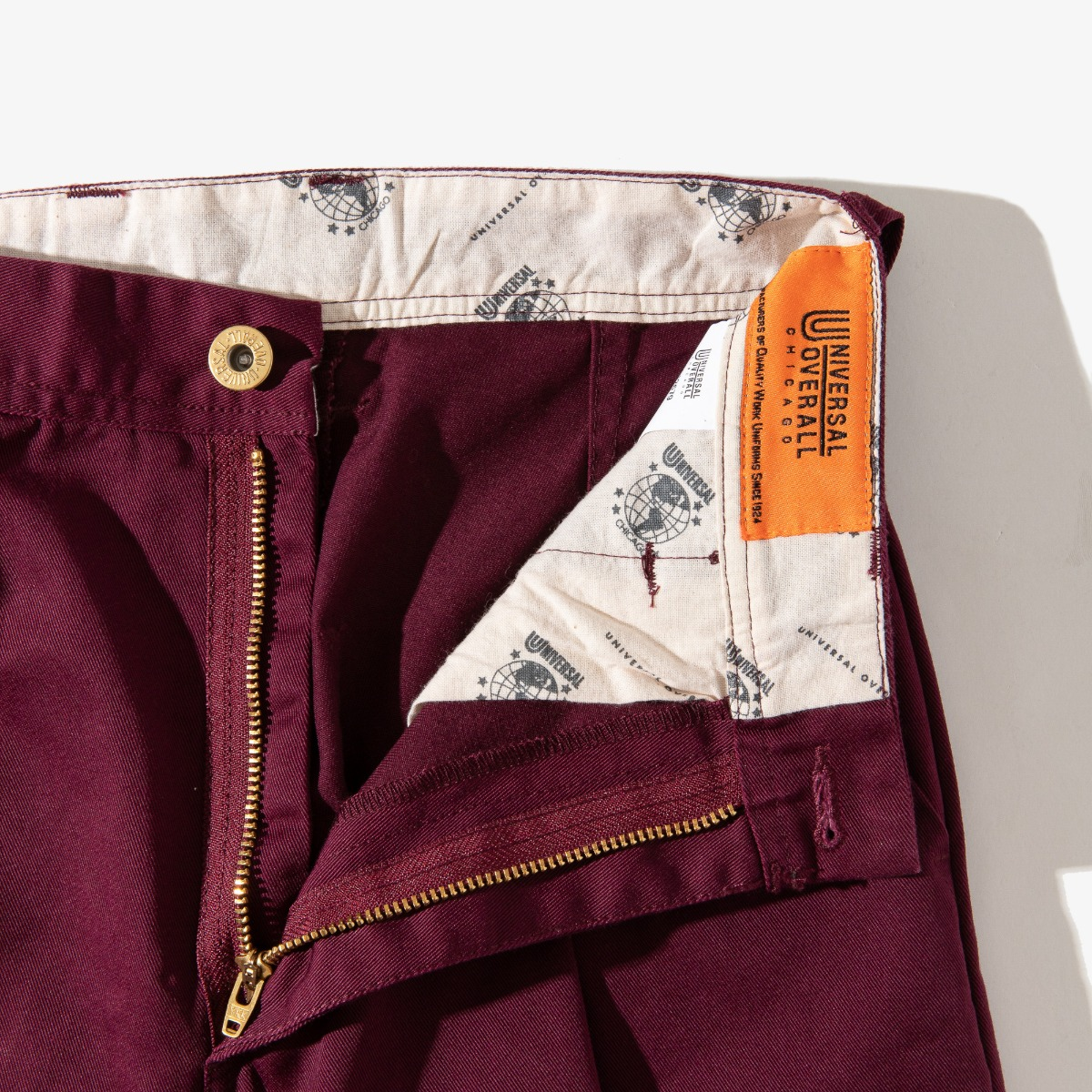 WOMENS WIDE PANTS BURGUNDY