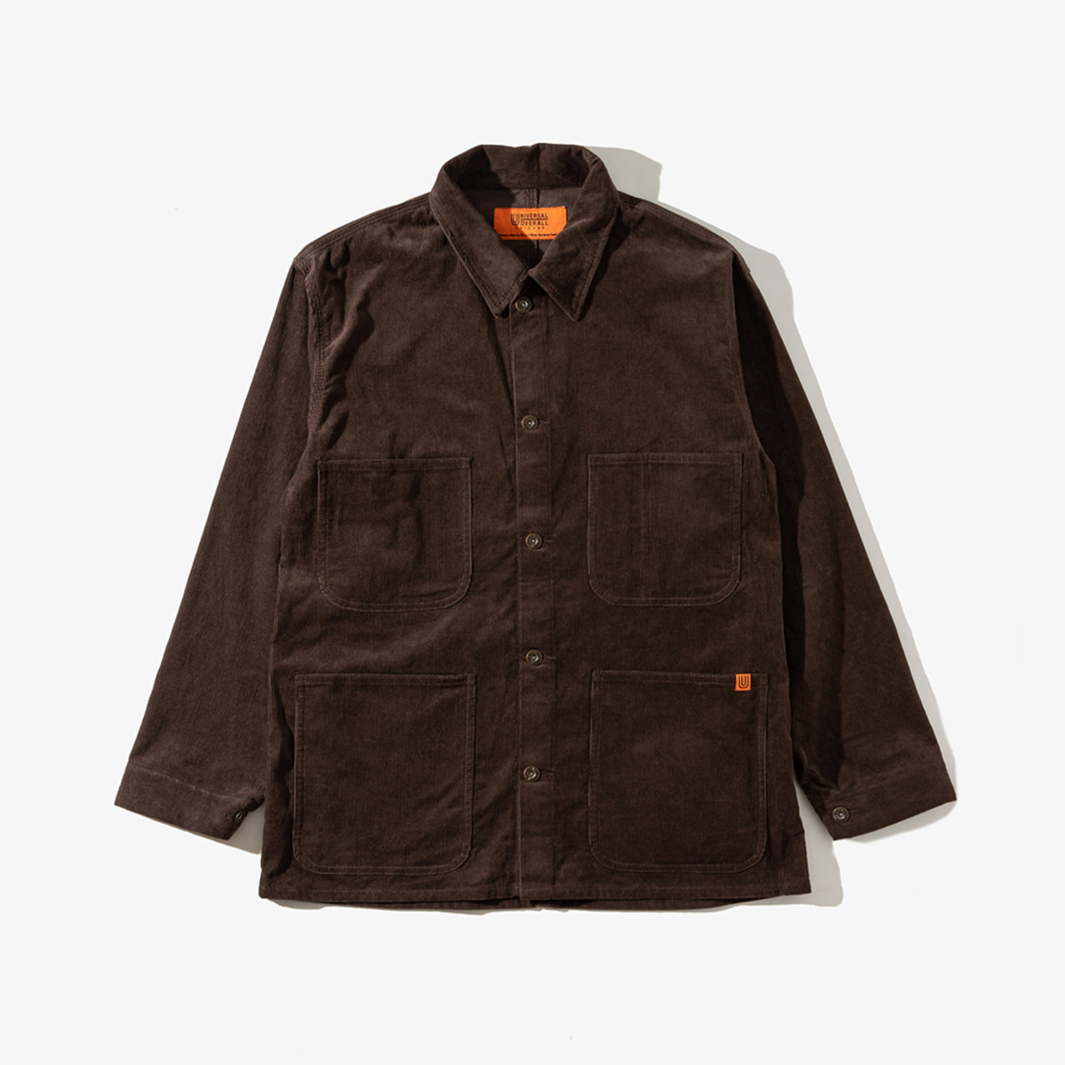 CORDUROY COVERALL BROWN