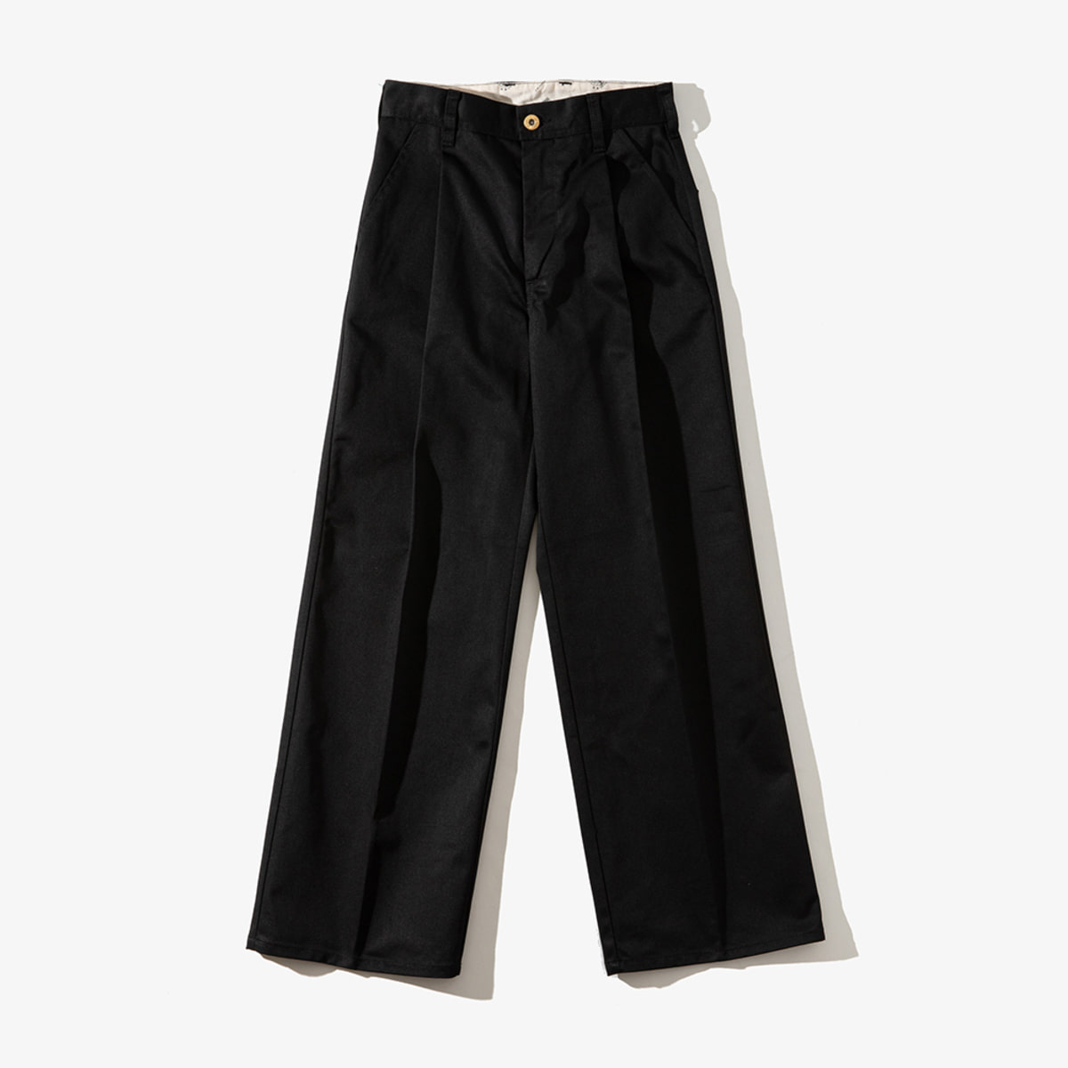 WOMENS WIDE PANTS BLACK