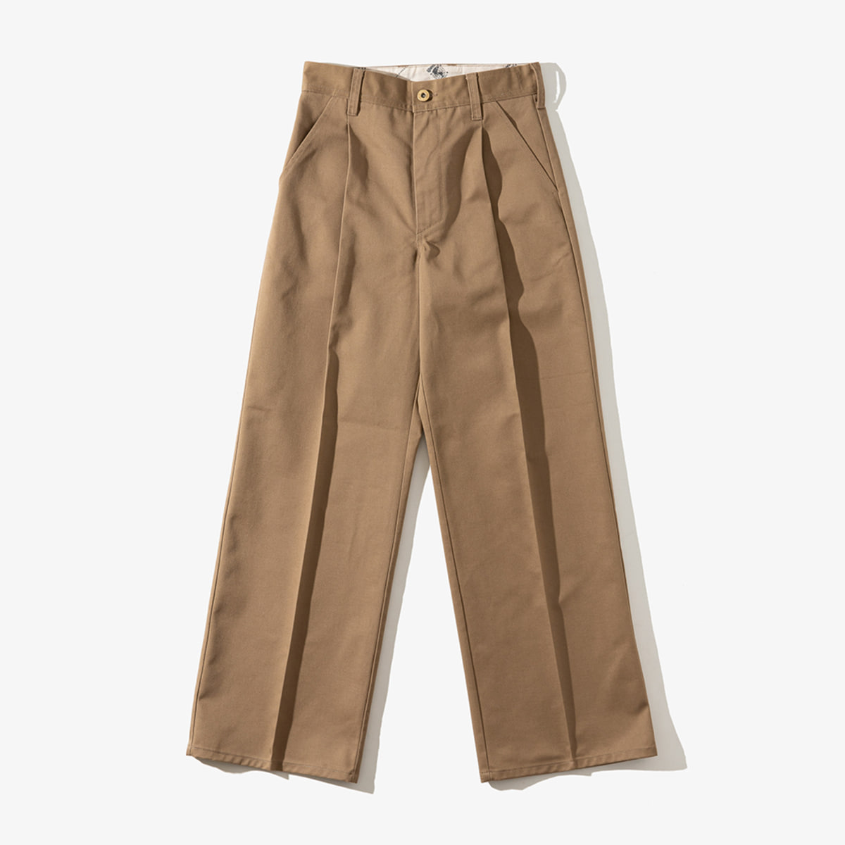 WOMENS WIDE PANTS BEIGE