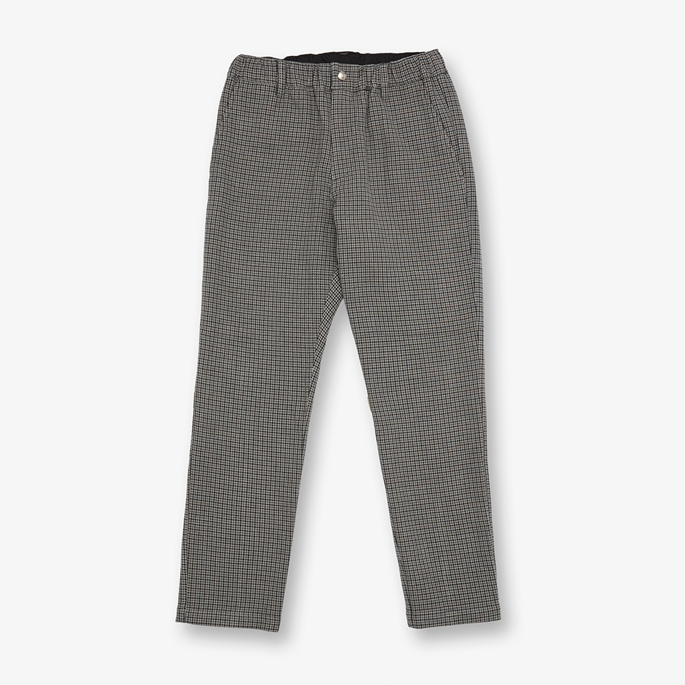 CHECK TAPARED PANTS GREY