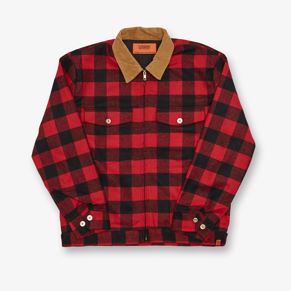 CORDUROY COLLAR TRUCK JACKET RED