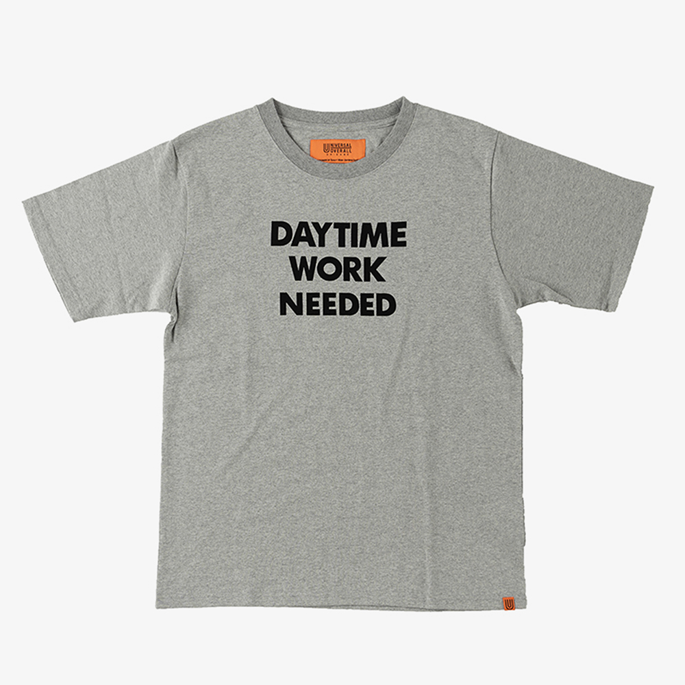 DAYTIME NIGTIME GRAPHIC T-SHIRTS HEATHER GREY