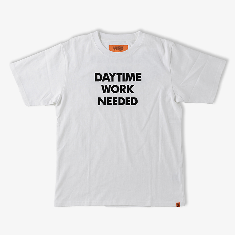 DAYTIME NIGTIME GRAPHIC T-SHIRTS WHITE
