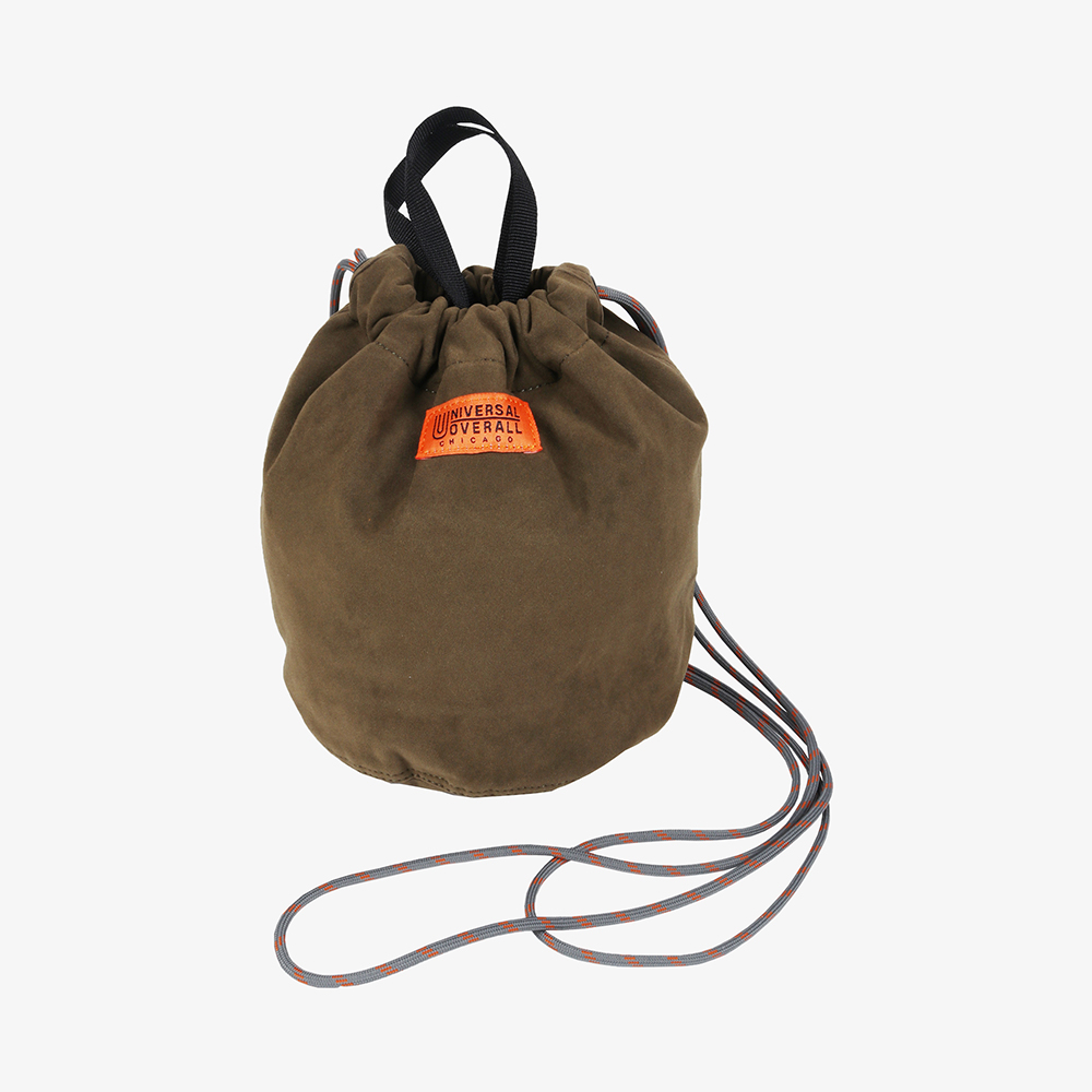 FAUX SUEDE BUCKET BAG KHAKI