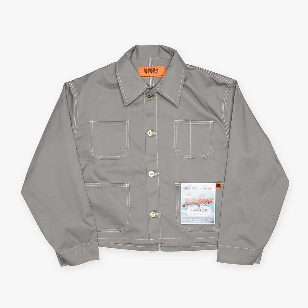 SHORT COVERALL GRAY