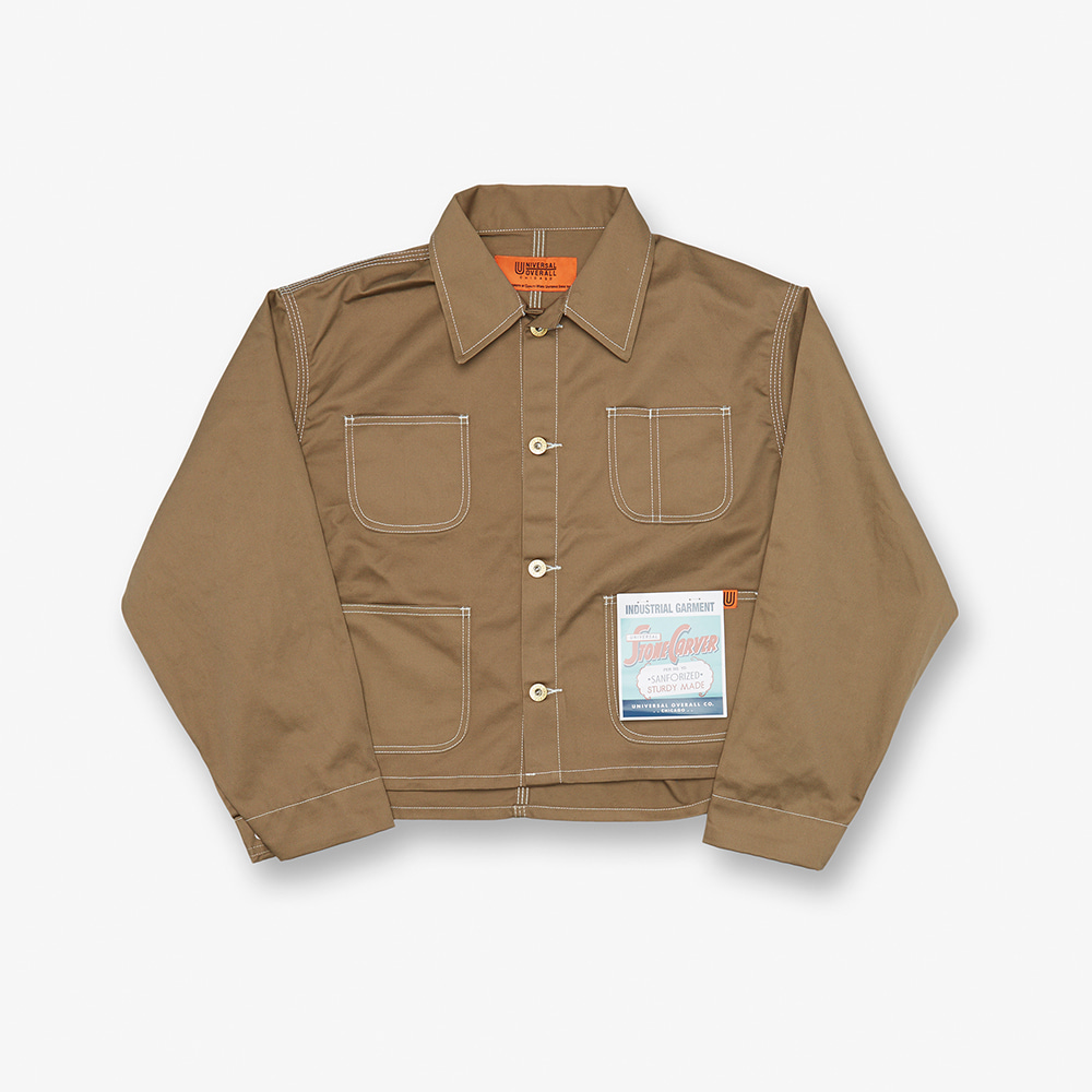 SHORT COVERALL BEIGE