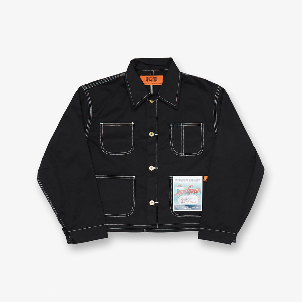 SHORT COVERALL BLACK