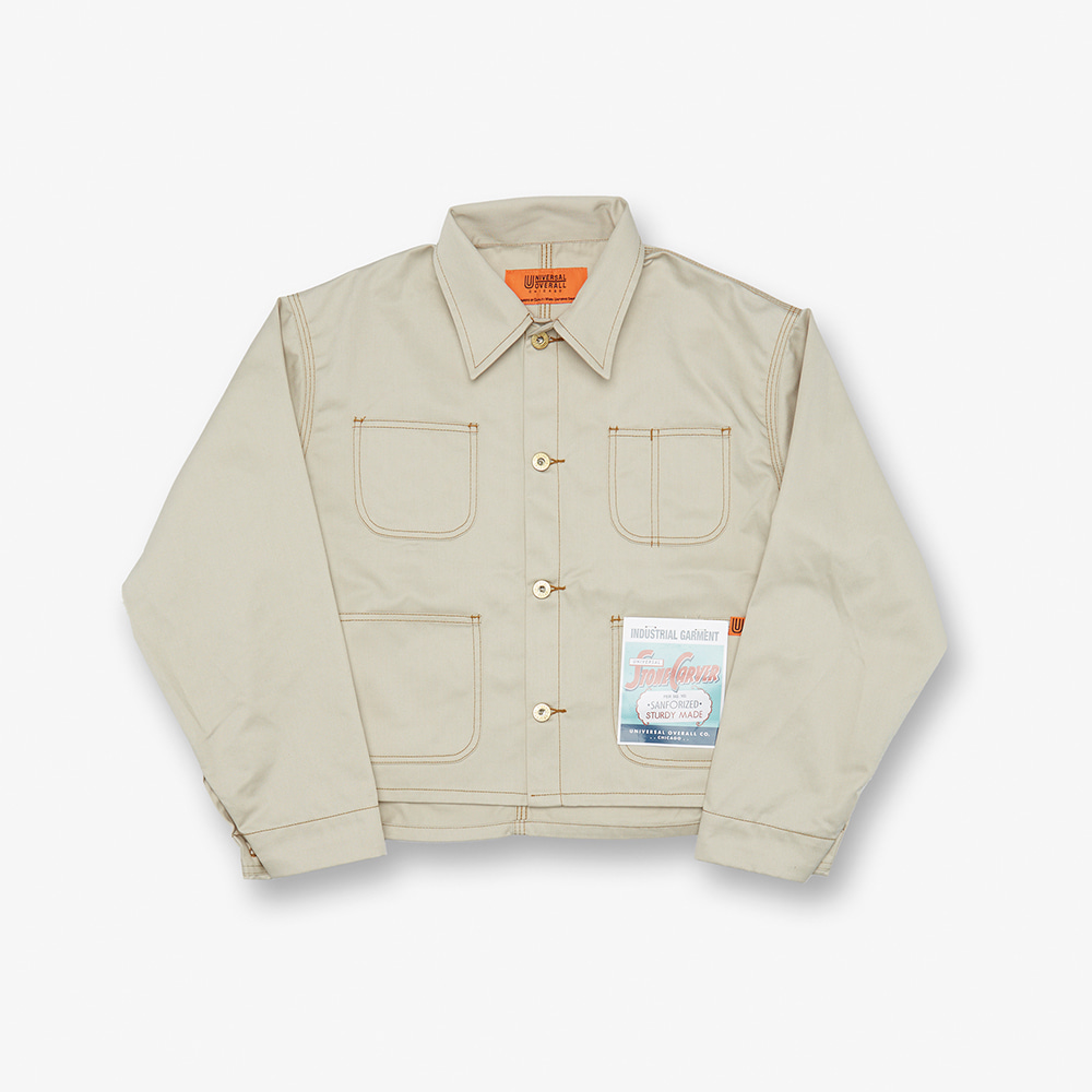 SHORT COVERALL IVORY