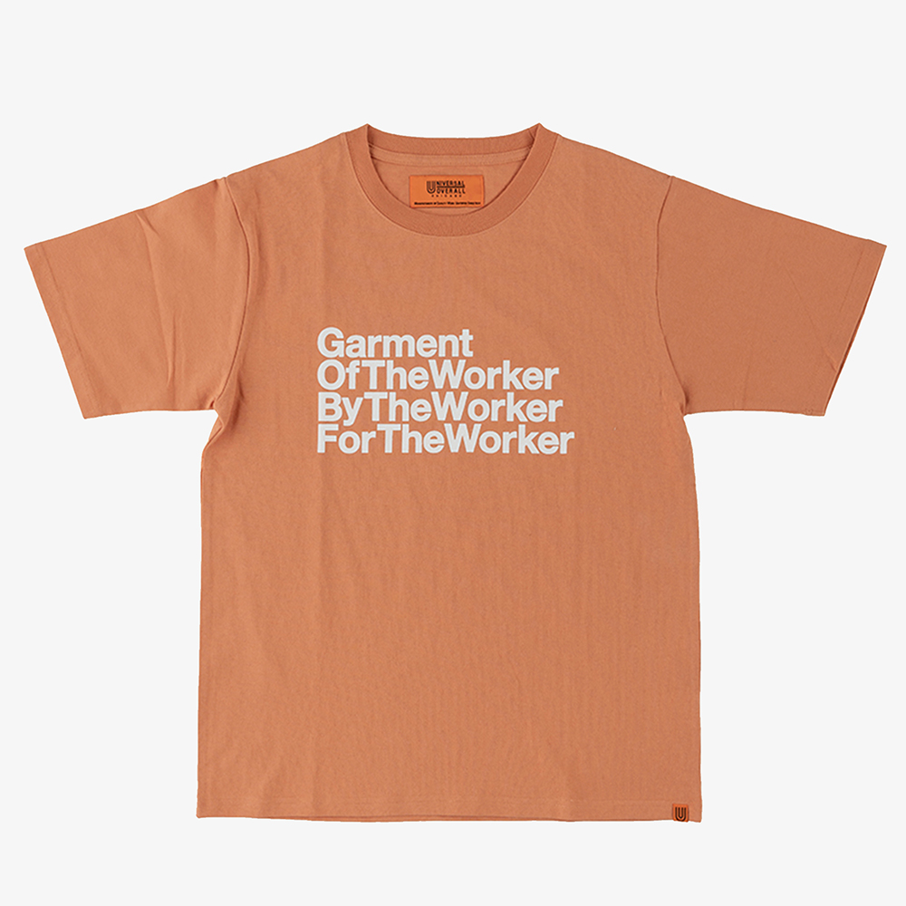 THE WORKER GRAPHIC T-SHIRTS ORANGE