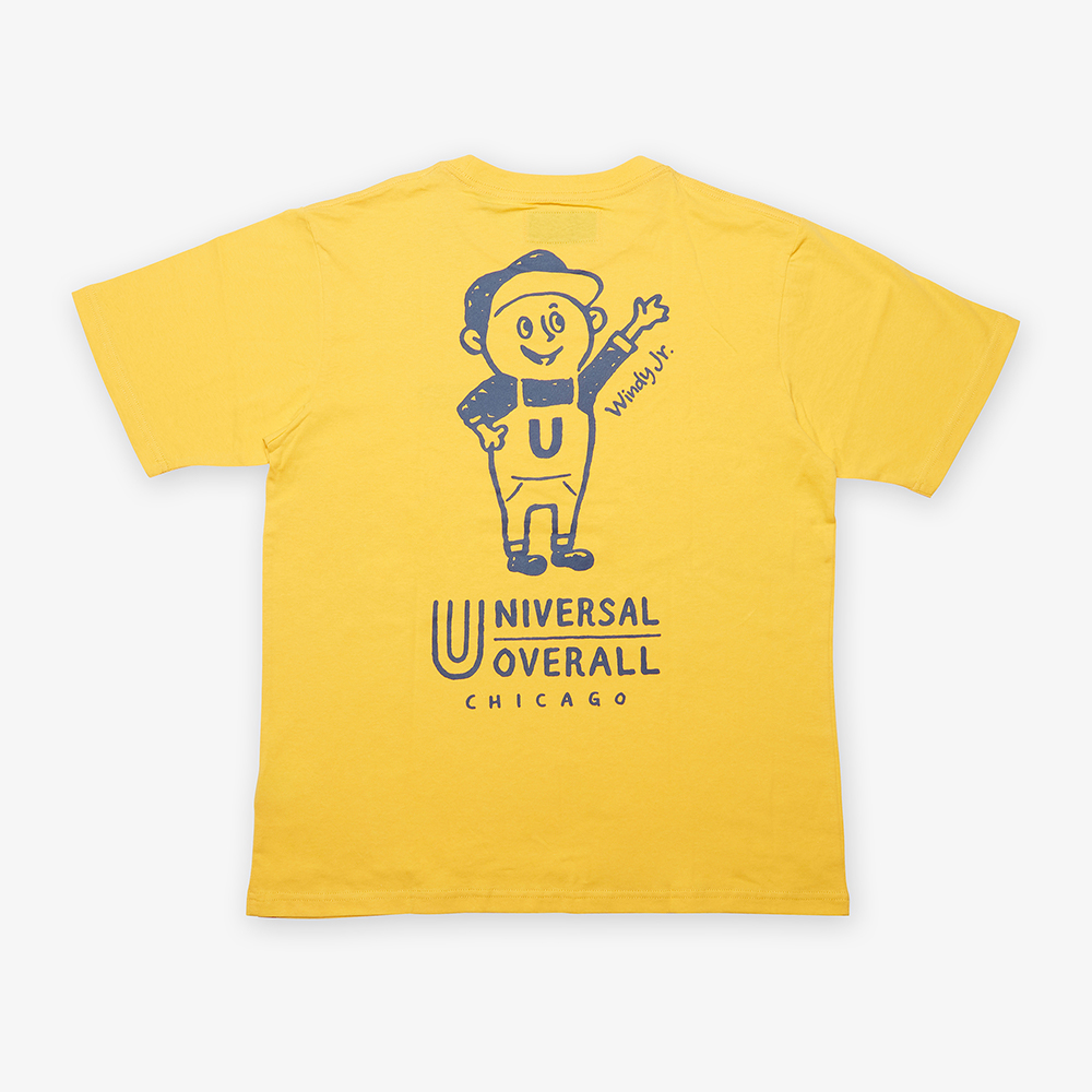 UNIVERSAL Jr.WINDY T-SHIRT YELLOW